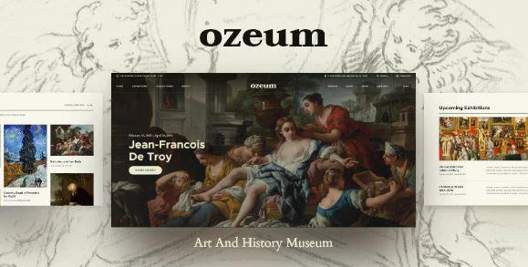 Ozeum v1.1 | Modern Art Gallery and Creative Online Museum WordPress Theme + RTL