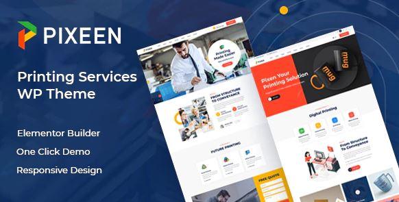 Pixeen v1.0.4 - Printing Services Company WordPress Theme + RTL