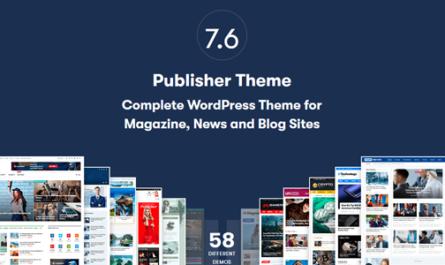 Publisher Pro 7.11.0 Final – Newspaper and Magazine WordPress Theme -