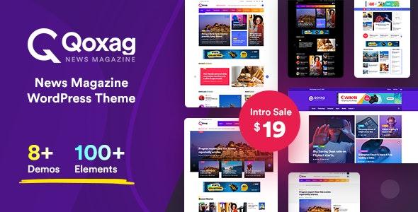 Qoxag 1.0.7 – WordPress News Magazine Theme - WordPress Theme,