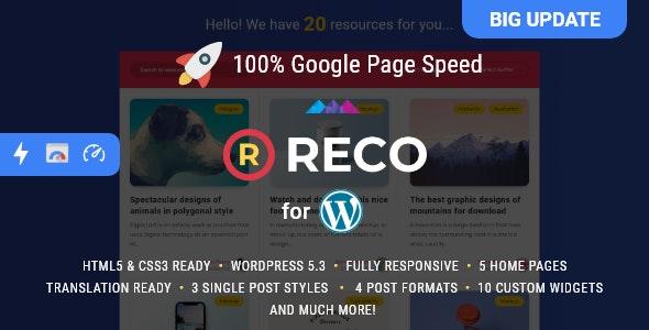 Reco – Minimal Theme for Freebies