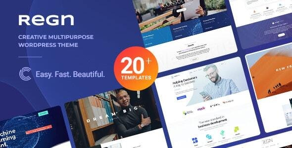 Regn v1.2 – Multi-Purpose WordPress Theme - WordPress Theme, Plugins, PHP