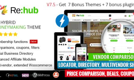 Rehub 16.5.1 Nulled – Affiliate Marketing, Multi Vendor...