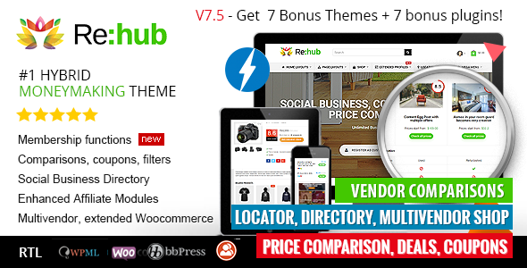 Rehub 16.5.1 Nulled – Affiliate Marketing, Multi Vendor Store, Community