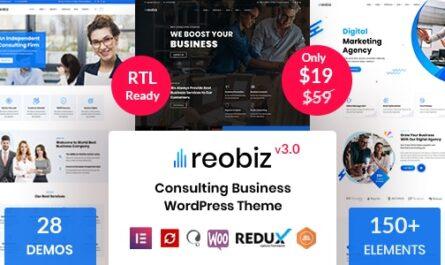 Reobiz – Consulting Business WordPress Theme v4.6.4 Free Download