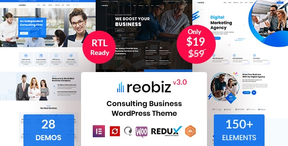 Reobiz v4.1 – Consulting Business WordPress Theme