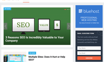 Revenue WordPress Theme By HappyThemes