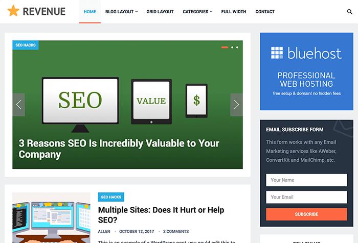 Revenue WordPress Theme By HappyThemes v1.4