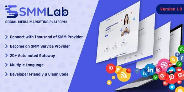 SMMLab v1.0.0 - Social Media Marketing SMM Platform