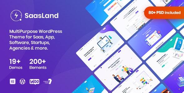 SaasLand v3.3.4 – MultiPurpose Theme for Saas & Startup