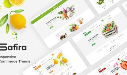 Safira v1.0.7 – Food & Organic WooCommerce WordPress Theme