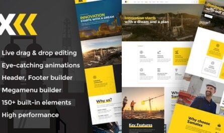 Samatex v3.0 – Industrial WordPress Theme + Woocommerce