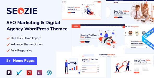 Seozie v2.0.4 – SEO & Digital Marketing WordPress Theme