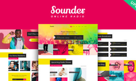 Sounder 1.3.0 – Online Internet Radio Station WordPress Theme