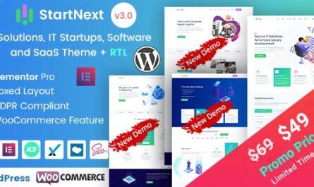 StartNext v4.4.0 – IT Startups WordPress Theme