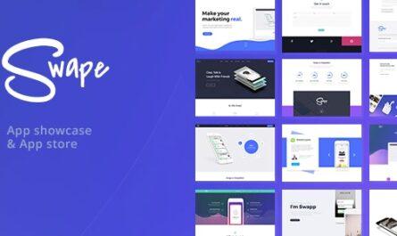Swape 1.8.2 – App Showcase & App Store WordPress Theme - WordPress