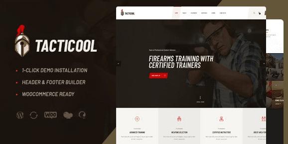 Tacticool v1.0.2 | Shooting Range & Gun Store WordPress Theme