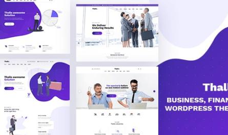 Thallo - Consulting & Finance WordPress Theme