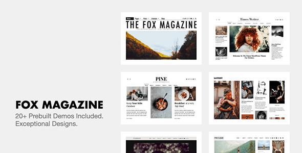 The Fox v4.6.5 – Minimal WordPress Blog Magazine Theme