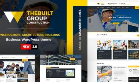 TheBuilt v2.3.2 – Construction and Architecture WordPress theme