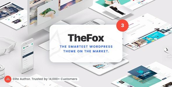 TheFox Nulled v3.9.9.9.34   Responsive Multi-Purpose WordPress Theme