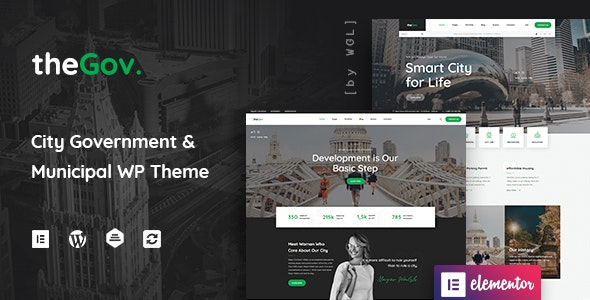 TheGov 1.2.0 Nulled – Municipal and Government WordPress Theme