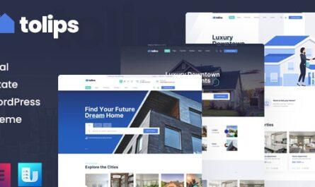 Tolips v1.1.2 – Real Estate WordPress Theme - WordPress Theme, Plugins, PHP