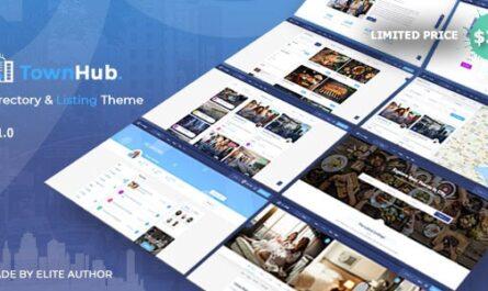 TownHub v1.5.5 – Directory & Listing WordPress Theme