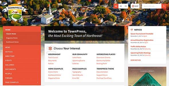 TownPress v3.6.7 – Municipality WordPress Theme