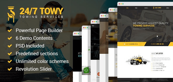 Towy v1.5 - Emergency Auto Towing and Roadside Assistance Service WordPress Theme