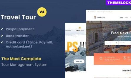 Travel Tour v4.2.6 – Tour Booking, Travel Booking Theme