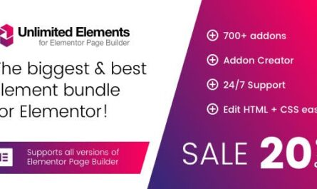 Unlimited Elements for Elementor Premium 1.4.77 Free Download