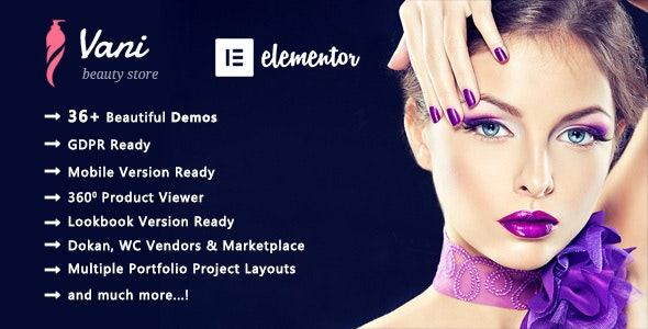 Vani v2.0.6 – Cosmetic Beauty WooCommerce WordPress Theme