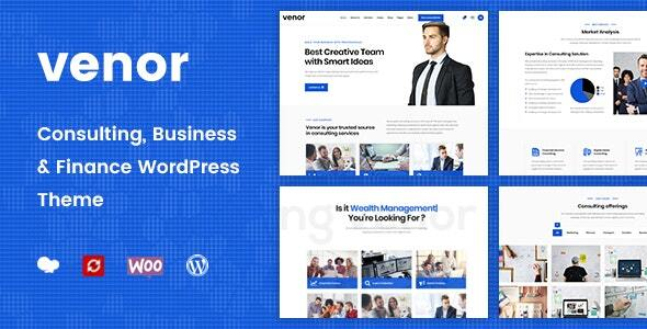 Venor v1.2.3 - Business Consulting WordPress Theme Nulled