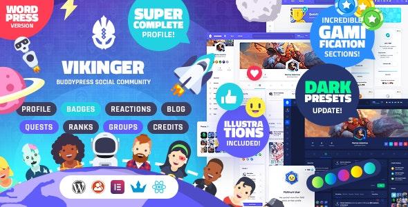 Vikinger v1.5.0 – BuddyPress and GamiPress Social Community