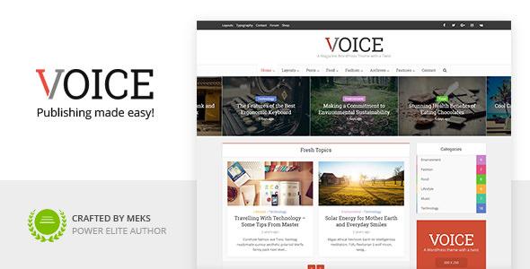 Voice v2.9.8 – Clean News/Magazine WordPress Theme