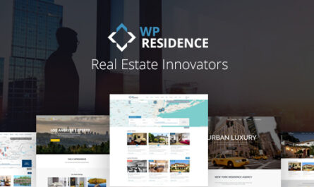 WP Residence 3.9.0 Nulled – Real Estate WordPress Theme
