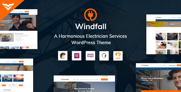 Windfall v1.4 – Electrician Services WordPress Theme