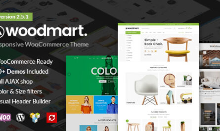 WoodMart free downlaod – Responsive WooCommerce WordPress Theme v6.1.4