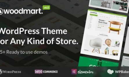 WoodMart v6.0.0 – Responsive WooCommerce WordPress Theme