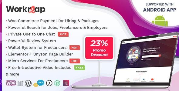 Workreap v2.0 – Freelance Marketplace WordPress Theme