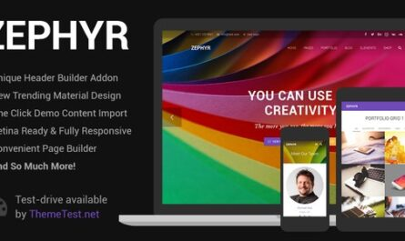 Zephyr v7.14 – Material Design Theme