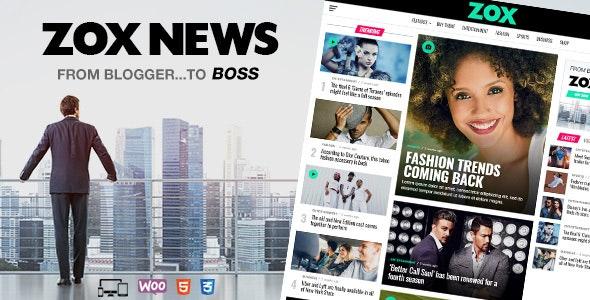 Zox News v3.9.0 – Professional WordPress News