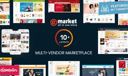 eMarket 4.9.0 Nulled – Multi Vendor MarketPlace WordPress Theme