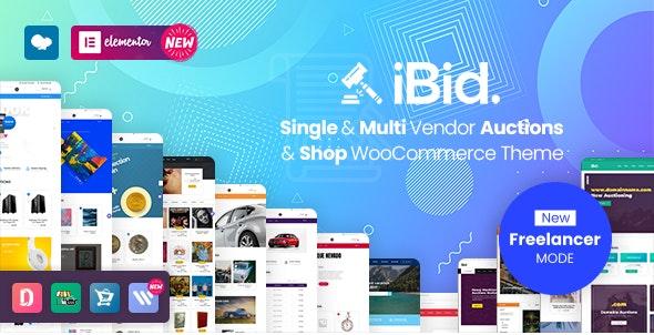 iBid v2.9 – Multi Vendor Auctions WooCommerce Theme