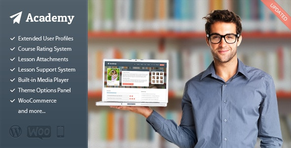Academy v2.1.9 – Learning Management Theme