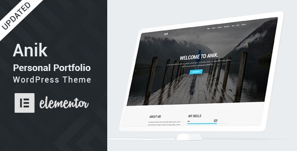 Anik v2.0 – Personal Portfolio WordPress Theme