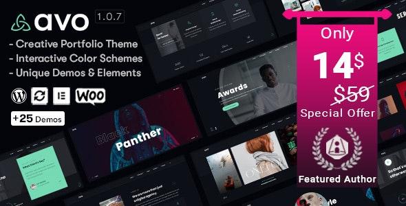 Avo v1.1.2 – Creative Portfolio & Agency WordPress Theme