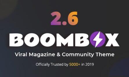 BoomBox v2.7.6 – Viral Magazine WordPress Theme