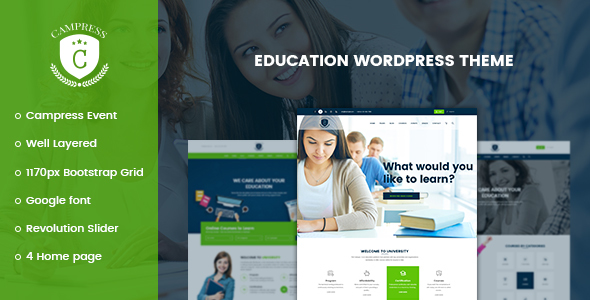Campress v1.10 – Responsive Education, Courses and Events